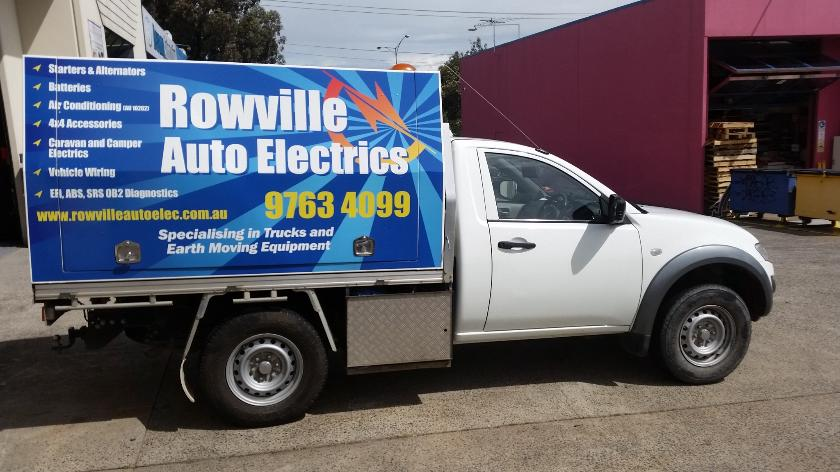 Rowville Auto Electrics On-Site service vehicle